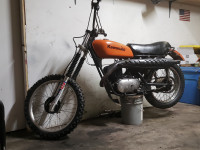 Kawasaki 350 BigHorn Enduro Motorcycle 1974 Model