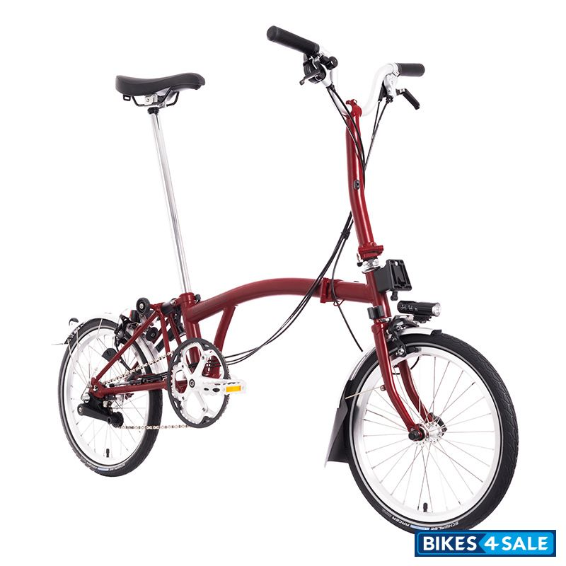 Brompton M6L House Red - Battery Lighting